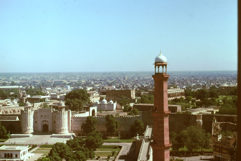 Lahore – view of city from Badshahi Mosque