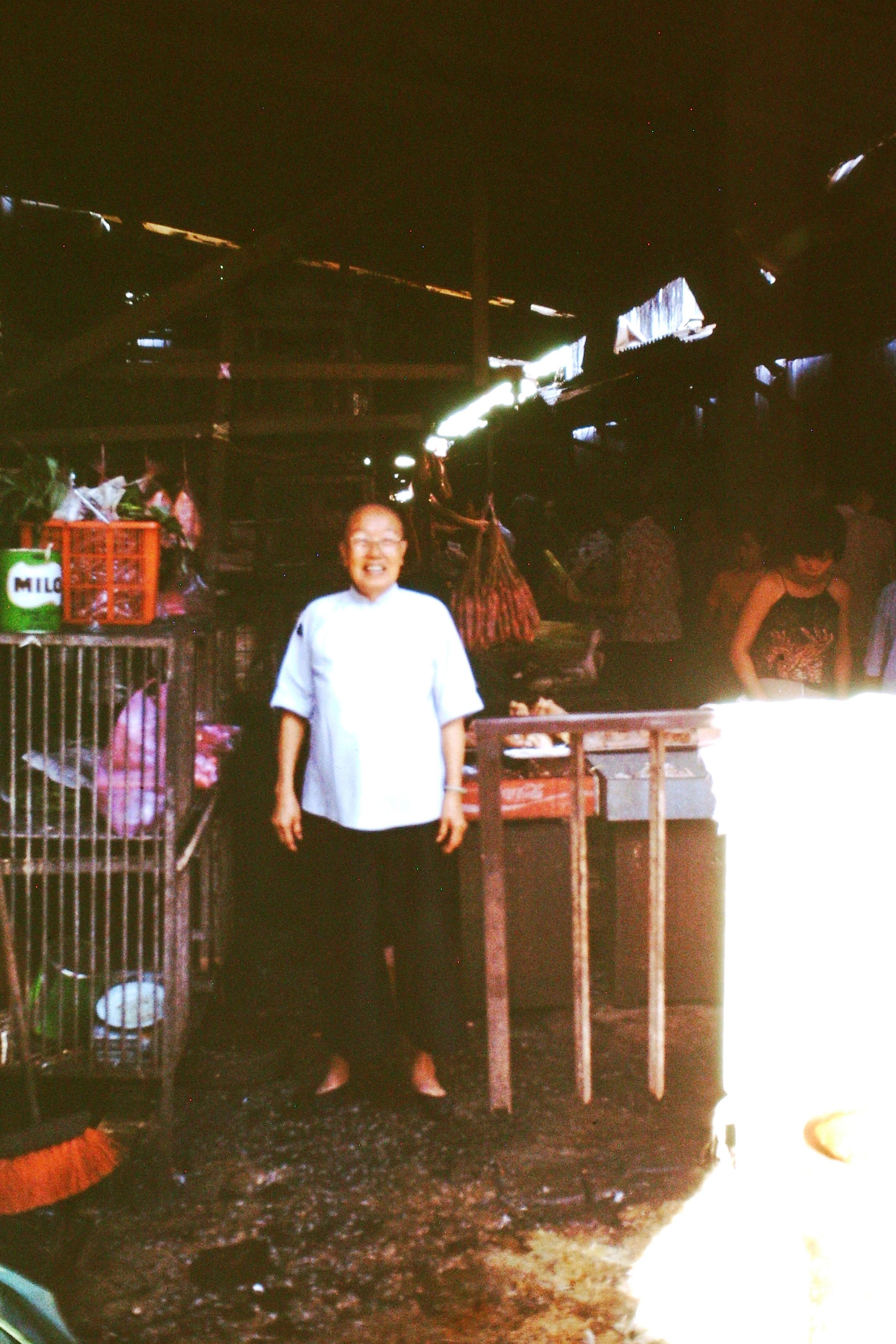 Ah Loke at the market