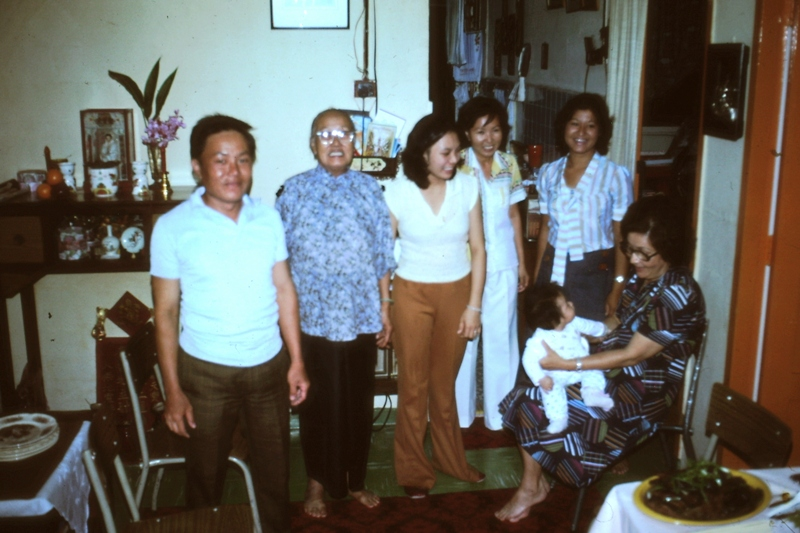 Singapore – Ah Loke and Ah Bang's family – Nellie holding baby