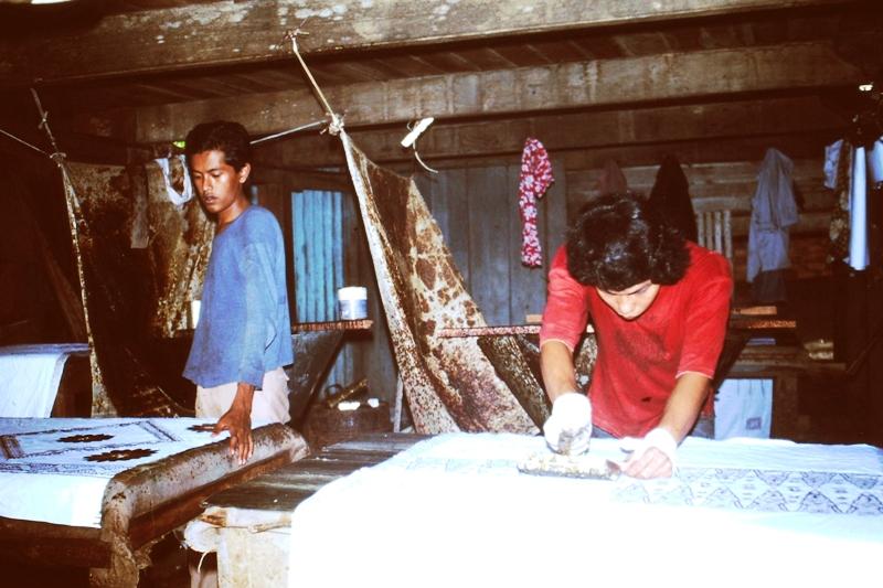 Preparing Batik