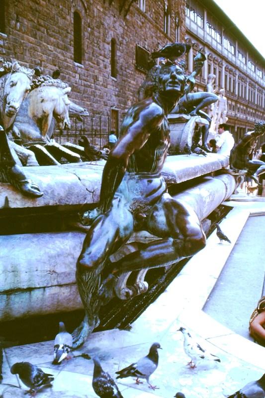 Italy – Florence – Fountain of Neptune – Piazza della Signoria