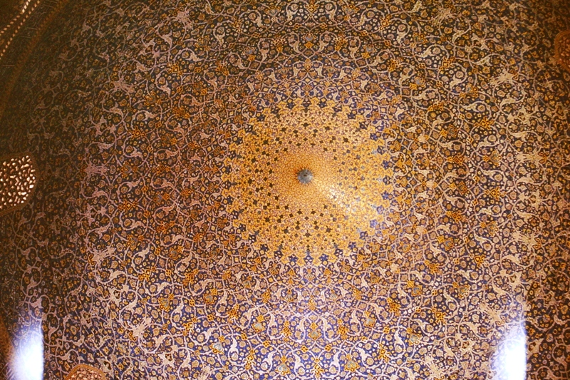 Isfahan – Shah Mosque – inside the dome – (Masjid-i-Shah)