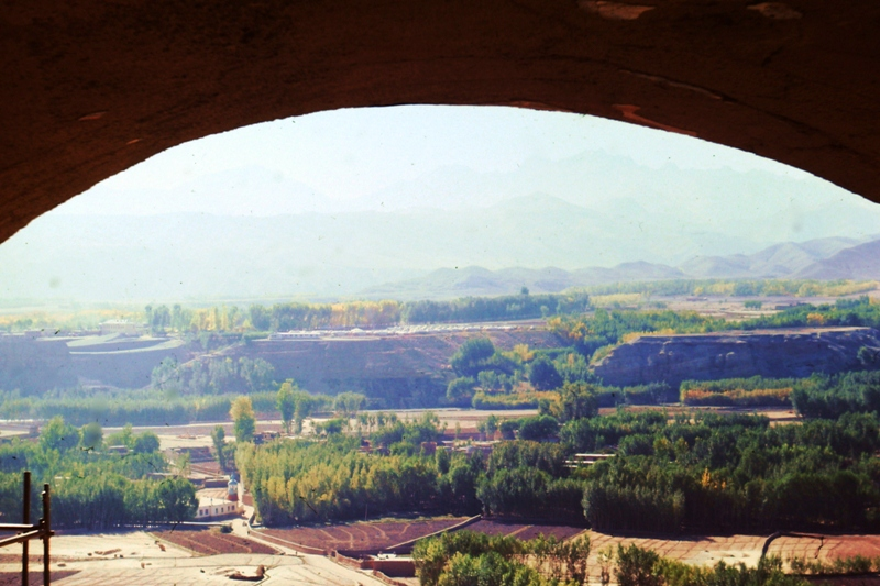 Bamiyan – View from the head of the giant Buddha (175 feet)