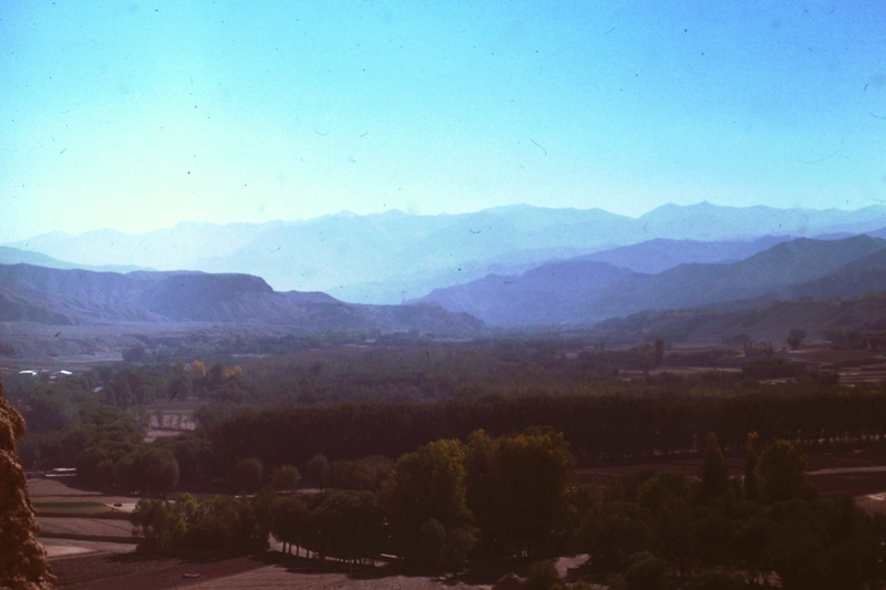Bamiyan – View from approach to Giant Buddha's head (175 feet)
