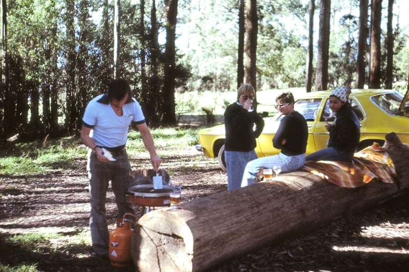Barbie in the Dandenongs – John, Suzanne, sister Liz (now Dr Elizabeth Bolyos)  & Erna