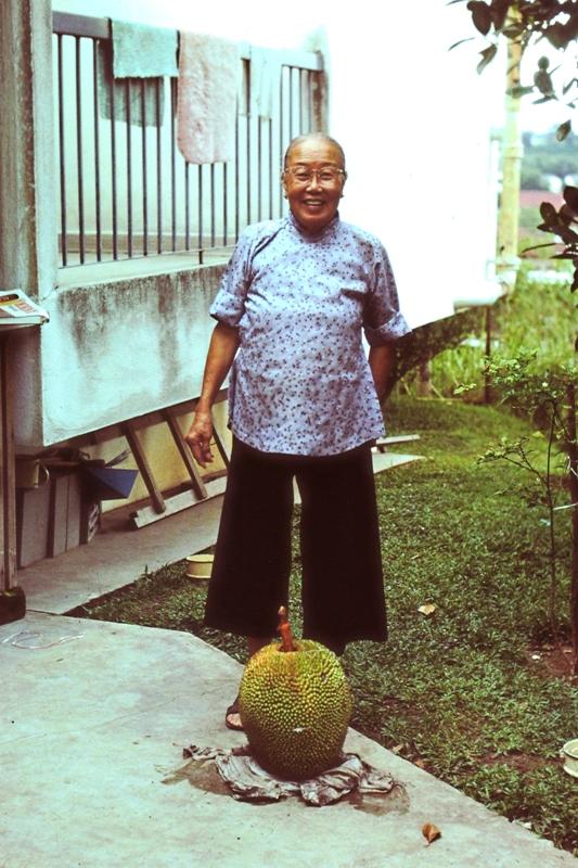 Ah Loke with jackfruit