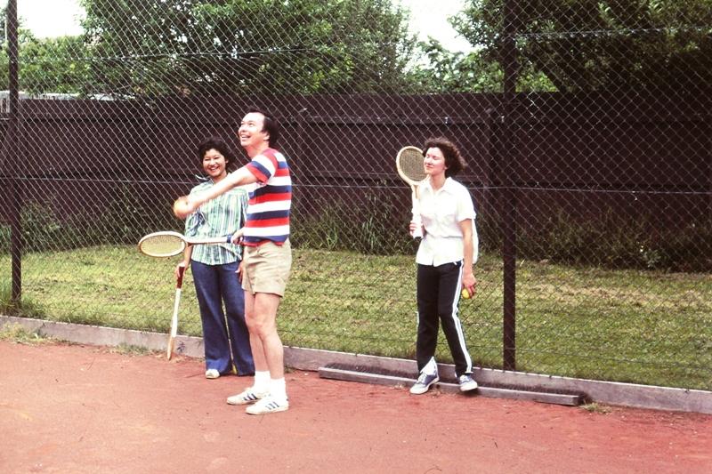 Erna, Tony (Patrick's school mate) and Sue